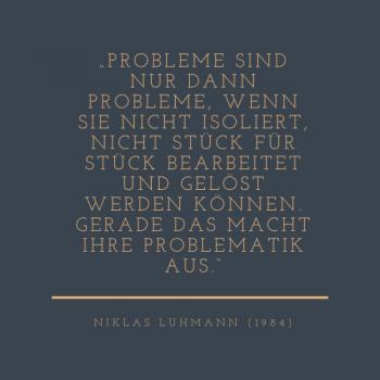 Luhmann Zitat Probleme